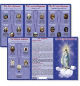 Hail Mary Our Father Prayers How to Pray the Rosary Tri Fold Reference Pocket Holy Card