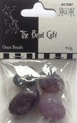 The Bead Cafe Onyx Beads lilac/Lavender 40g