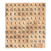 Wooden Scrabble tiles choose your letters x 100 craft, Word Art Jewellery making...FREE UK POSTAGE