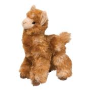 LEXI LLAMA by Douglas Cuddle Toy 22cm tall stuffed golden plush animal alpaca