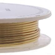 Craft/Jewellery Wire 0.6mm (22ga) Non-Tarnish - Gold Colour - 10m