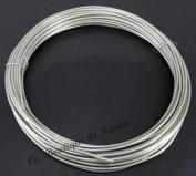 1.8m ALUMINIUM Wire 1.5 mm-Light Silver-Coloured Beads