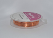 20 metres Non Tarnish Craft And Jewellery Making Copper Wire - Copper - 0.4mm 26 gauge