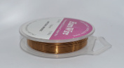 20 metres Non Tarnish Craft And Jewellery Making Copper Wire - Bronze Plated - 0.4mm 26gauge
