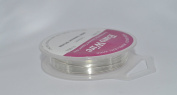 20 metres Non Tarnish Craft And Jewellery Making Copper Wire - Silver Plated - 0.4mm 26 gauge