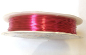 10M x PINK 0.4MM JEWELLERY BEADING WIRE WRAPPING & TIARAS COPPER WIRE