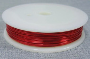 6M x RED 0.6MM JEWELLERY BEADING WIRE WRAPPING & TIARAS COPPER WIRE