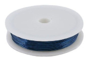 6M x BLUE 0.6MM JEWELLERY BEADING WIRE WRAPPING & TIARAS COPPER WIRE