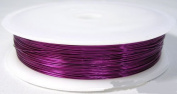 10M x PURPLE 0.4MM JEWELLERY BEADING WIRE WRAPPING & TIARAS COPPER WIRE
