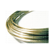 1 x Pale Gold Square Copper Craft Wire 6 Metre x 0.8mm Coil - (WGSQ) - Charming Beads
