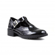 Lilley Girls Black Patent T-Bar Shoe