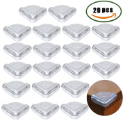 Anpatio 20Pcs Baby Safety Table Edge Guard Protector Anti-Collision Thick Soft Impact Rubber Clear Corner Cushion for Home Kitchen Office Desk Bed Cupboard Furniture Edge with 3M Adhesive