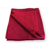 HC Retail 936007 Bath Towel 70 x 140 cm with Viscose from Bamboo Pulp red