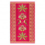 Pip Studio Beach Towel 100 x 180 cm Darjeeling Bird Design Pink