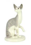 Grey Sphinx Cat Lomonosov Imperial Porcelain Collectible Realistic Figurine Cat Kittie Assorted Collection