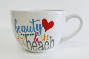 """""""Beauty & The Beach"""" Ceramic Mugs