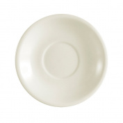 CAC China REC-2 Rolled Edge Stoneware Saucer 15cm Diameter x 2.5cm High, American White - 1 Each