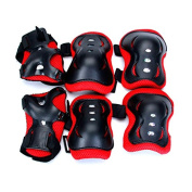 WINOMO 6pcs Child Cycling Knee Elbow Wrist Pads Protector Guards Protective Gear