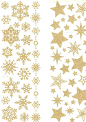 waterslide transfer sheets pack of two sheets gold glitter easy to use on candles, and other arts and crafts