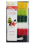 Candle Making Kit for Children to Create Christmas Decorations - Per pack 6pcs EMI Craft