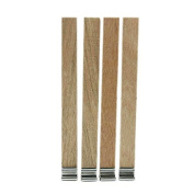 10pcs Wood Candle Wicks with Sustainer Tabs for Candle Making DIY Supplies Tool