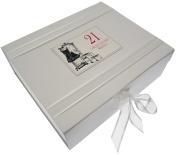 "White Cotton Cards Large ""21st Birthday Little Black Dress"" Keepsake Box"
