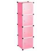 4 Cube Cabinet Storage Unit Shoes Books Magazines Toys Shelves Wardrobe [UK Stock]
