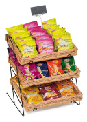 Prestige Wicker Counter Top Display Stand with Shallow Trays, Natural