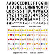 181 Letters, Numbers, Symbols and Emojis for A4 Size LED Message Box