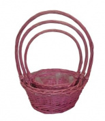 Basket Cup Pink S/3