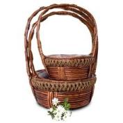 Basket Rope Round Set/3