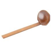 YJYdada Wood Ladle Serve Pierced Table Spoon Hot Pot Ramen Soup Spoons Slotted Scoop