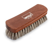 Woly Unisex-Adult 17cm Light bristle Horsehair Easy Grip Shoe Brushes Brown 30-40 cm