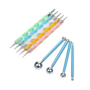 YunLi 9 Pcs Ball Stylus Dotting Tools Set Clay Sculpting Ceramics Pottery Carving Modelling Tools