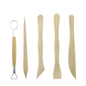 Pottery Tool Sculpting Tool ,High Quality Wooden Clay Tools,DIY Double Sided Crafting Sculpting Modelling Pottery ,5pcs