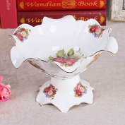 YUYUAN Continental fruit dried fruit ceramic creative living room luxurious bone China ceramic ornament decoration