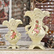 YUYUAN Continental home decoration ceramic vases flower pots wedding , c