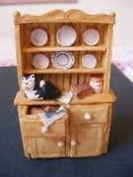 COLOUR BOX - MINIATURE - WELSH DRESSER HS211 HOME SWET HOME COLLECTION BY PETER FAGAN