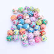 Wadoy 100 Fimo Polymer Clay Round Beads Variety Size 8mm