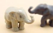 Dollhouse Miniatures Ceramic Baby Young Elephant FIGURINE Animals Decor