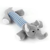 Zantec Pet Dog Molars Puppy Chew Squeaker Squeaky Plush Sounding Toy