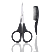 FullGold Beard & Moustache Scissors With Mini Comb For Beard & Moustache Trimming Kit