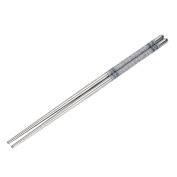Fullfun 23cm Length White Vine Pattern Stainless Steel Chopsticks, Environmentally Friendly