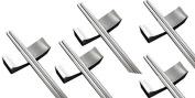 C & L 5x Stainless Steel Chopstick & 5x Rest Chopsticks Holder Rack Frame Tableware Dinnerware Home Kitchen Tools Set