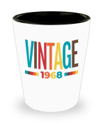 Vintage 1968 Shot Glass | 50th Birthday Shot Glass