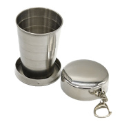 KOROWA Retractable Cup Fold Glass goblet All stainless steel folding retractable cup folding cup blackjack cup
