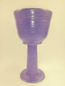 Aunt Chris' Pottery - Hand Made Clay - Ample Celtic Goblet - Glazed Lavender Purple Colour - Beautiful to Display and Marvellous to Use - Food, Microwave, Oven And Dishwasher Safe - Non Toxic Glaze