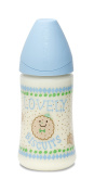 SUAVINEX Lovely Biscuit Physiological Silicone Feeding Bottle 270 ml Blue