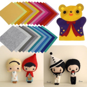 Ularma 40 Pcs DIY Non Woven Felt Fabric Thick Polyester Felt Cloth Package for Sewing Dolls Craft