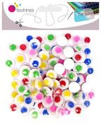 Yeux Mobiles adhésifs Colour Ø10 mm – 100 pcs – Sodertex